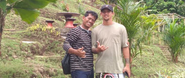 irfan bachdim our visitor, he is most famoust soccer in Indonesia