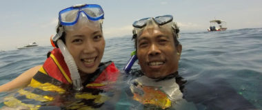 Snorkeling in perfect place at Nusa Lembongan and Nusa Penida